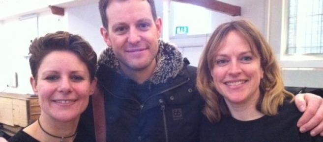 Gemskii, presenter Matt Baker, and Marie