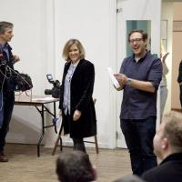 Cerys Matthews being filmed by the BBC crew at our North London choir rehearsal